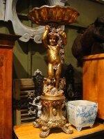91. Антикварная Деревянная, позолоченная скульптура. Италия. Около 1880 года. 135x65 см. Цена 2900 евро.