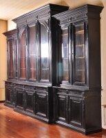 Антикварный Книжный шкаф. Орех, черный лак. Брюссель. 1870 г. 3,15x4.95 м. Цена 27500 евро