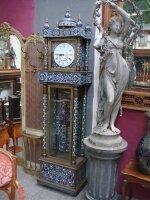 Антикварные Напольные часы. Около 1900 г. Бронза, эмаль. 60x37x235 см. Цена 8500 евро
