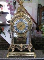 Антикварные Настольные часы Буль с консолькой. 1695 г. Andre Hory. Париж. Высота 90 см. Цена 9300 евро