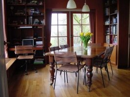 Антикварный Раздвижной стол. Красное дерево. 1830 г. Англия. 185-126x120x75 см