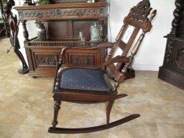Антикварное резное кресло-качалка. 550 евро
