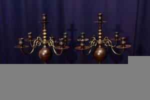 Пара антикварных подсвечников. Около 1900 г. Голландия. 44x27x27 см. Цена 450 евро