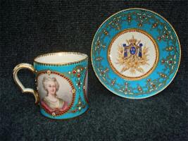 28. Антикварные Чашка с блюдцем. Севр. 19 век.