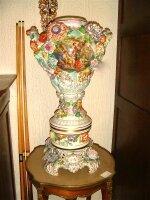 31. Антикварная Ваза для цветов. Фарфор. Германия. Около 1900 года. Высота 67 см. 2500 евро