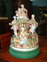 36. Антикварная фарфоровая Скульптура. Германия. Около 1900 года. 44x30 см. 4000 евро