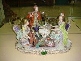 5. Антикварная фарфоровая скульптура Музыкальная группа. Германия. 1920 год.
