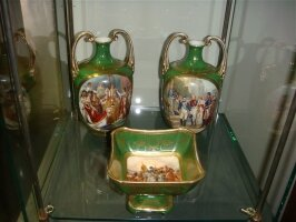Антикварный Сервиз. Франция. 19 век. Высота вазы 20 см. Цена 1700 евро