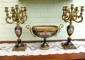 Антикварный Сервиз 19 век. Фарфор, роспись, бронза. Цена 2000 евро