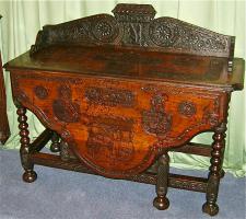 30. Антикварный Раскладной стол. 17 век.