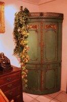 Антикварный угловой расписной шкаф. 18 век. Франция. 200x80 см.