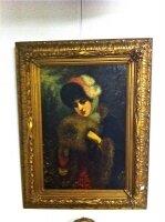 15. Антикварная Картина, 19 век. Холст, масло. 103x79 см. Цена 4400 евро.