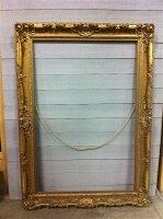 55. Антикварная Позолоченная рама для картины или зеркала. 19 век. 217x160 см.
