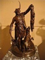 5. Антикварная Бронзовая скульптура Охотник. 19 век.