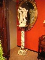 62. Антикварная Скульптура и постамент. XIX век.