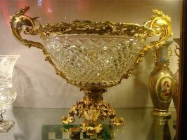 68. Антикварная Ваза. Хрусталь, бронза. 19 век. 46x59 см. 5500 евро.