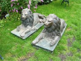 70. Антикварная скульптура Пара львов. Бронза. Около 1880 года. 130x65x60 см. Цена 9000 евро.