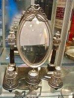 77. Антикварное Зеркало с туалетными принадлежностями. Серебро. 19 век. 62х45х35 см. Цена 8500 евро
