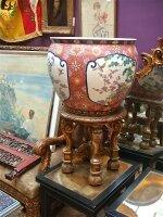 80. Антикварная Китайская ваза на подставке. 19 век.