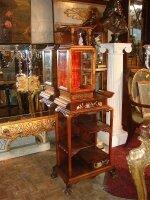95. Антикварная Этажерка. Китай. 19 век. 159х30х56 см. Цена 2000 евро