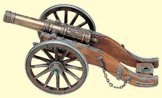 Антикварная Модель пушки армии Наполеона. 18 век. 30x15x13 см. Цена 700 евро
