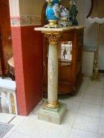 121. Пара антикварных мраморных колонн. 19 век. Мрамор, бронза. 30x30x111 см. Цена 5500 евро