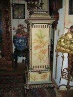 Антикварная Печь KUPPERSBUSCH. 1880 год. Чугунное литье, эмаль, роспись - Модерн. 145x50x50 см. Цена 2500 евро