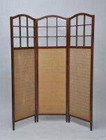 Антикварная ширма. Красное дерево, фасированное стекло, оригинальная ткань. 1900 г. Цена 1300 евро
