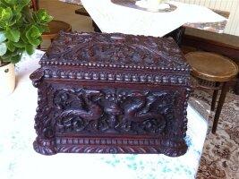 120. Антикварная Шкатулка. 18 век. 31x20x21 см. Цена 1500 евро