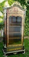 19. Антикварный Шкаф-витрина в стиле Буль. 19 век.