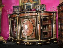 37. Антикварный Комод-витрина Буль. 19 век. 210x58x120 см. Цена 22000 евро.