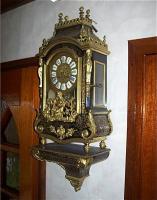 55. Антикварные Часы Буль консольные. 19 век.