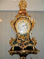 64. Антикварные Часы Буль с консолью. 18 век.