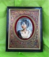 81. Антикварная Рамка с фото Буль. 19 век.