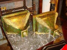 86. Пара антикварных консолей Буль. 19 век. 33x20x25 см. Цена 3500 евро.