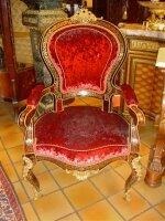 Антикварное Кресло в стиле Буль. Около 1850 г. 67x70x110 см. Цена 6500 евро