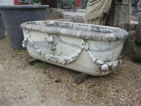 34. Антикварная Мраморная ванна садовая. Около 1930 года.