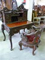 151. Антикварный Столик с креслом. 19 век. Китай.