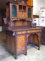 63. Антикварный Письменный кабинет. Арт Нуво (Модерн). Около 1900 г. 168х120х68 см. Цена 3000 евро