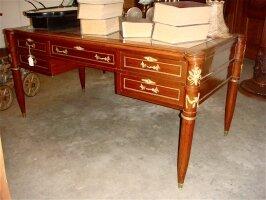 71. Антикварный Письменный стол с бронзой. Около 1900 г. 169х85х80 см. Цена 2400 евро