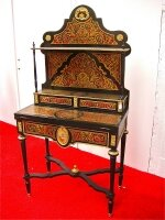 99. Антикварный Раскладной столик Буль. 19 века. 159x79x45 см. Цена 2900 евро