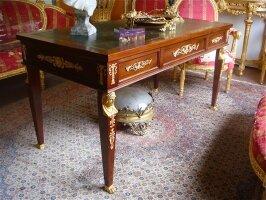 Письменный стол с тремя ящиками. Ампир. Около 1870 г. 149x75x78 см. Цена 6000 евро