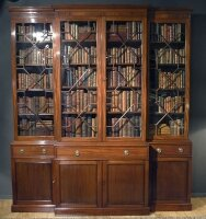 10. Антикарный Книжный шкаф. Англия. 1840 год. 256x229x54 см. Цена 12000 евро.