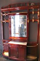 49. Антикарный Гардероб вешалка для прихожей с зеркалом. Около 1910 г. 235х165 см.