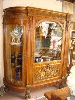 54. Антикварный Шкаф для посуды. XIX век. 210x67x206 см. Цена 16000 евро