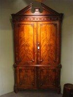 39. Антикарный Шкаф угловой. Ампир. Около 1840 года. 265x137x73 см.