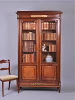 58. Антикварный Книжный шкаф. 1870 г. 120x38x232 см