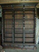 Большой антикварный Книжный шкаф. Резьба, массив дуба. 300x250 см. Цена 4900 евро