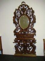 Антикварный Шкафчик с зеркалом для прихожей. 19 век. 119x240 см. Цена 5000 евро