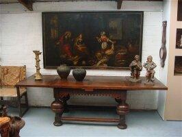 63. Антикварный Стол. (XVI) 16 век. 140-266x90x80 см. Цена 2800 евро.